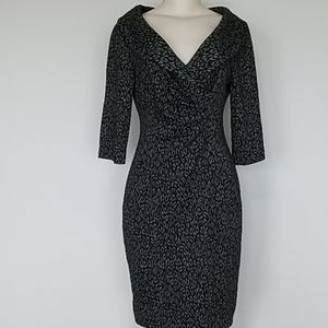 Kay Unger gray splotchy dress-10